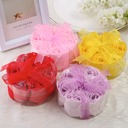 7 Pieces Lovely Rose Soaps With Ribbons