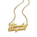 Custom 18k Gold Plated Name Name Necklace Pendant Necklace With Crown Butterfly -