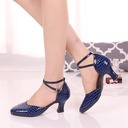 Women's Real Leather Heels Ballroom Dance Shoes