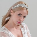 Ladies Romantic Satin Headbands With Crystal (Sold in single piece)