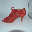 Women's Boots Latin With Animal Print Hollow-out Dance Shoes