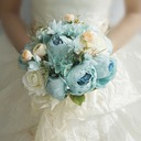 Blooming Round Silk/Cloth Bridesmaid Bouquets - (123201752)