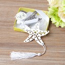 Starfish Stainless Steel Bookmarks With Tassel