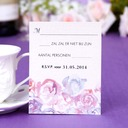 Personalized Flower Design Pearl Paper Response Cards (Set of 50)