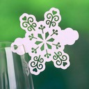 Snowflake Pearl Paper Place Cards (set of 12)