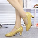 Women's Leatherette Pumps Character Shoes With Buckle Dance Shoes