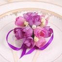 Round Satin/Silk Wrist Corsage (Sold in a single piece) -