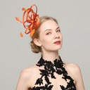 Ladies' Classic Cambric/Feather With Feather Fascinators