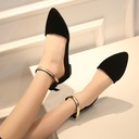 Women's Suede Flat Heel Sandals Flats Closed Toe With Sequin shoes