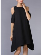 Polyester/Crepe Above Knee Dress