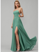 Chiffon Prom Dresses With Split Front Pockets