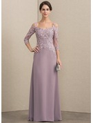 Sweetheart Floor-Length Chiffon Lace Mother of the Bride Dress