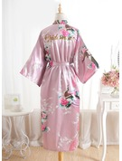 Silk Bride Bridesmaid Glitter Print Robes