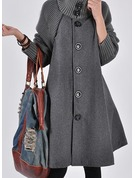 Wool Long Sleeves Plain Blend Coats Coats