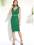 Polyester/Spandex Knee Length Dress