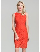 Lace With Lace/Hollow Above Knee Dress