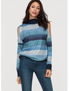 Graphic Polyester Cotton Turtleneck Sweater Sweaters