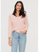 Plain Cotton Spandex V-neck Sweater Sweaters