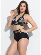Beautiful Floral Polyester Bikinis Swimsuit