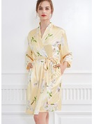 Silk Bride Bridesmaid Floral Robes