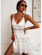 Solid A-line Spaghetti Straps Sleeveless Midi Casual Little Black Vacation Skater Type Dresses