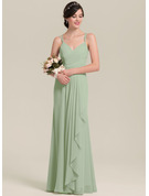 Sweetheart Floor-Length Chiffon Bridesmaid Dress With Cascading Ruffles