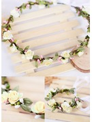 Artificial Silk/Paper With Ribbon Flower Headband