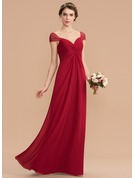 Sweetheart Floor-Length Chiffon Bridesmaid Dress With Ruffle Beading Sequins