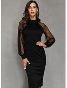 Black Long Sleeves Midi Dresses