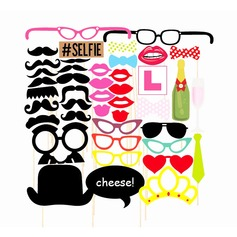 Photo Booth Props Card Paper Funny Mask Photo Booth Props Wedding Decorations