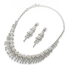 Gorgeous Alloy/Pearl/Rhinestones Ladies' Jewelry Sets