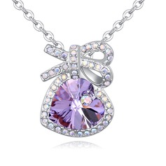 Charming Alloy/Crystal Ladies' Necklaces