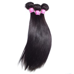 4A Straight Human Hair Hair Weaves/Weft Hair Extensions (Sold in a single piece)