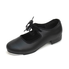 Women's Kids' Leatherette Flats Tap Dance Shoes