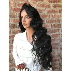 4A Non remy Wavy Human Hair Full Lace Wigs