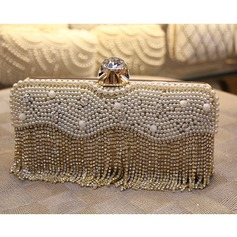 Refined Imitation Pearl Clutches/Satchel
