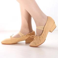 Women's Canvas Heels Ballet Dance Shoes