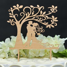 Dancing Couple/Classic Wood Cake Topper