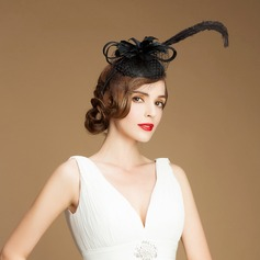 Dames Wijnoogst Batist/Feather/Tule Fascinators
