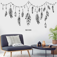 Fantasy feather children's room decoration stickers (Sold in a single piece)