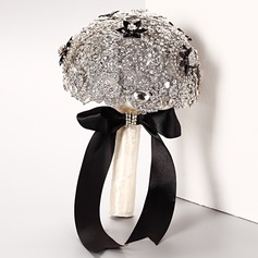 Eye-catching Round Crystal/Rhinestone Bridal Bouquets -
