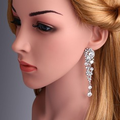 Shining Alloy With Rhinestone Imitation Crystal Women's Fashion Earrings