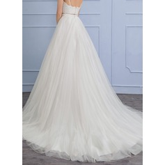Separates Chapel Train Tulle Wedding Skirt