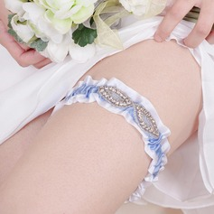 Beautiful Polyester With Rhinestone Wedding Garters