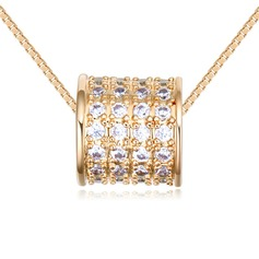 Shining Copper/Zircon/Gold Plated/Silver Plated/Rose Gold Plated With Cubic Zirconia Necklaces