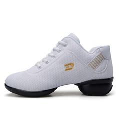 Women's Cloth Flats Sneakers Sneakers Practice With Lace-up Dance Shoes