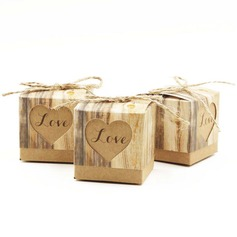 """Love"" Cubic Favor Boxes"