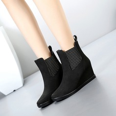 Women's PVC Wedge Heel Boots Mid-Calf Boots Rain Boots shoes