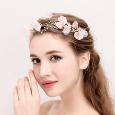Ladies Classic Alloy/Silk Flower Headbands