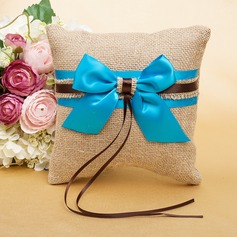 Pure Elegance Ring Pillow With Ribbons/Bow
